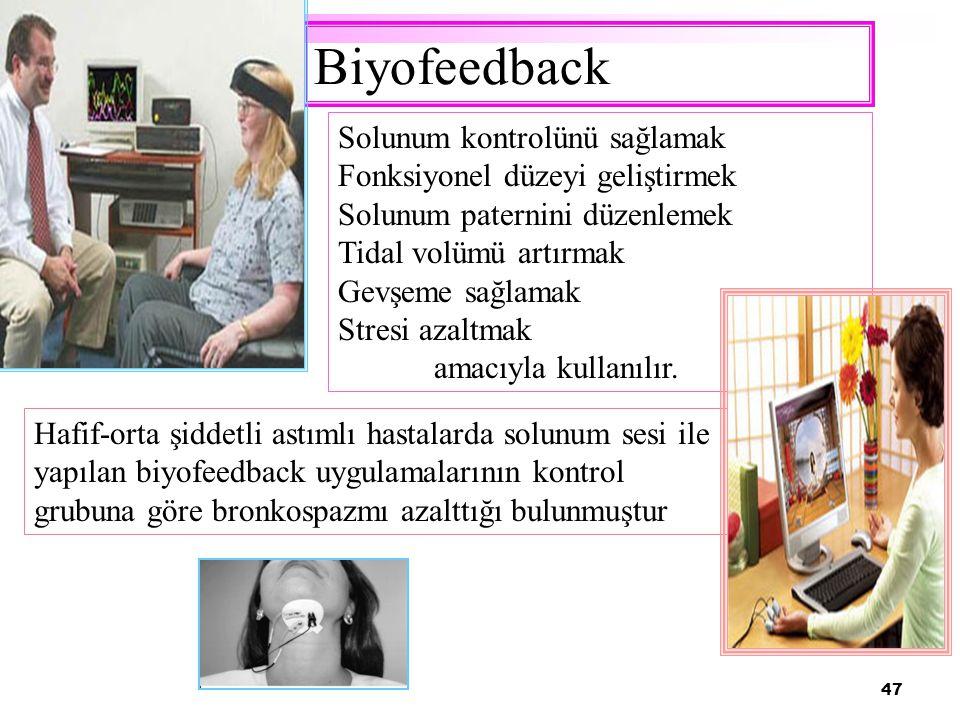 Biyofeedback Solunum kontrolünü sağlamak