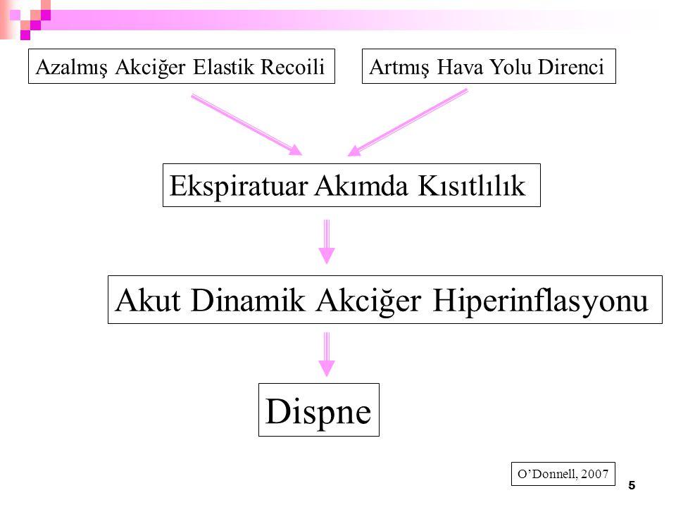 Dispne Akut Dinamik Akciğer Hiperinflasyonu