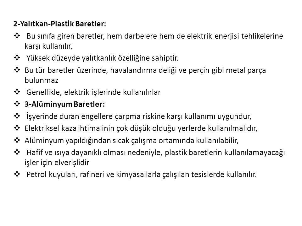 2-Yalıtkan-Plastik Baretler: