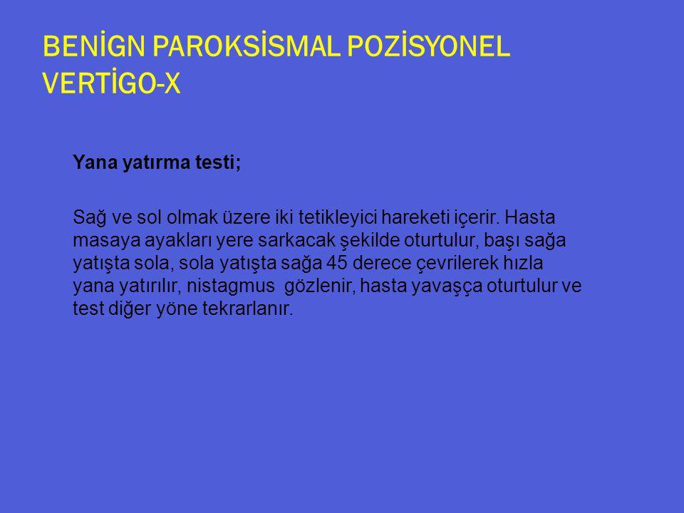 BENİGN PAROKSİSMAL POZİSYONEL VERTİGO-X