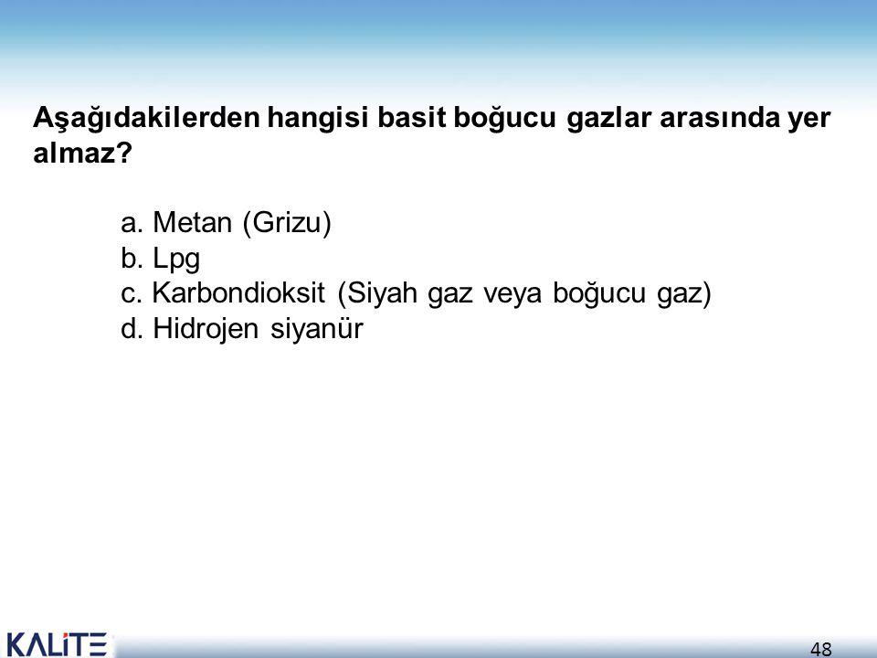 Aşağıdakilerden hangisi basit boğucu gazlar arasında yer almaz