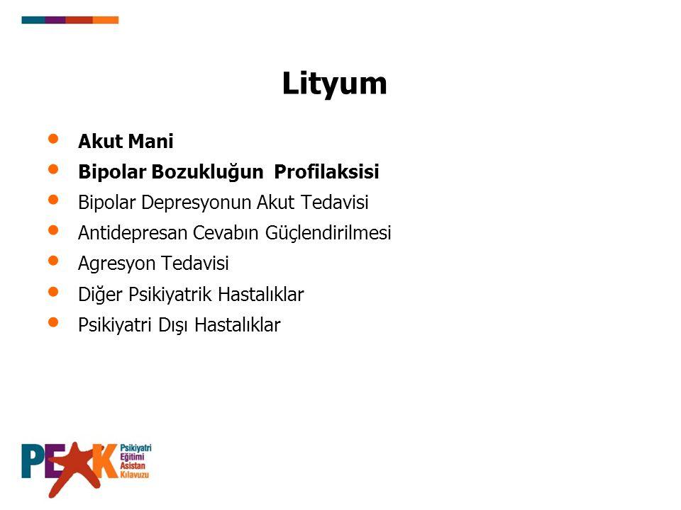 Lityum Akut Mani Bipolar Bozukluğun Profilaksisi