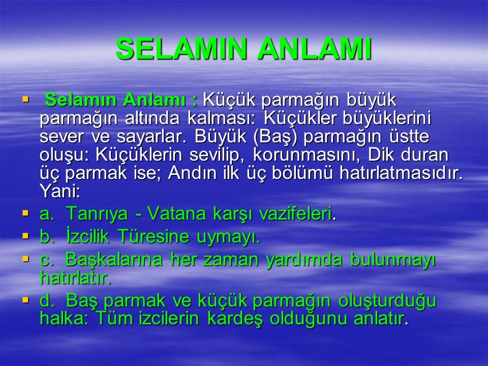SELAMIN ANLAMI