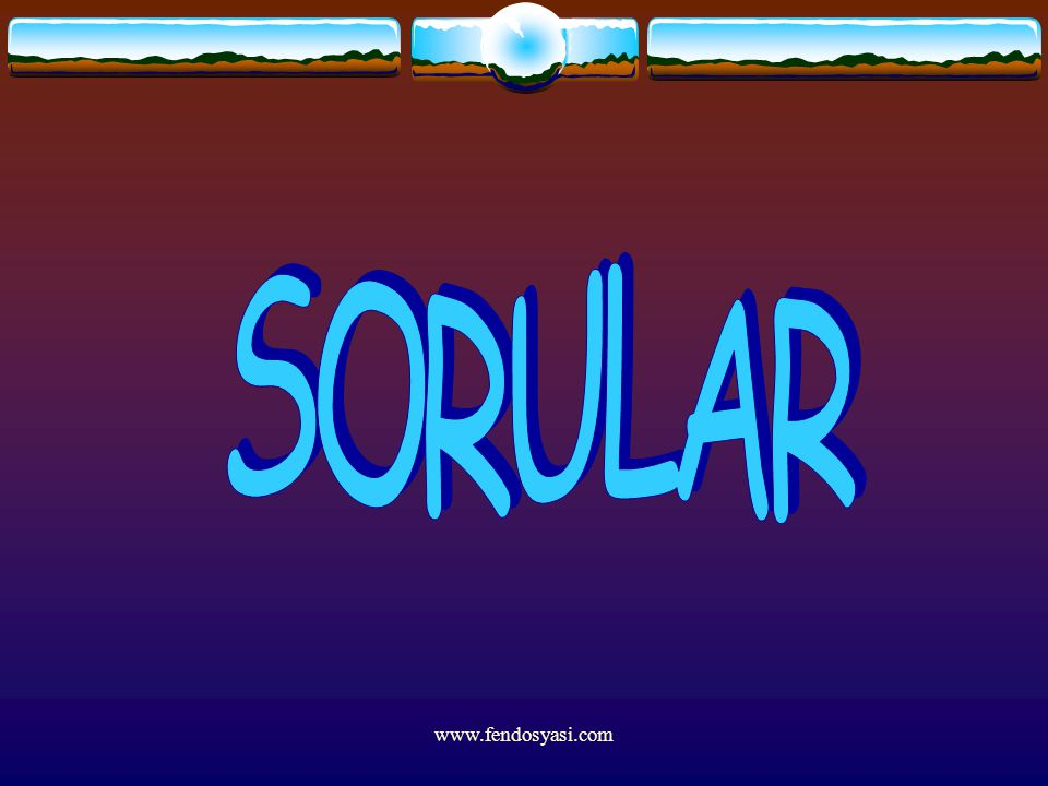 SORULAR www.fendosyasi.com