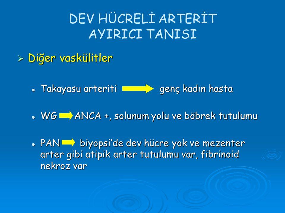 DEV HÜCRELİ ARTERİT AYIRICI TANISI