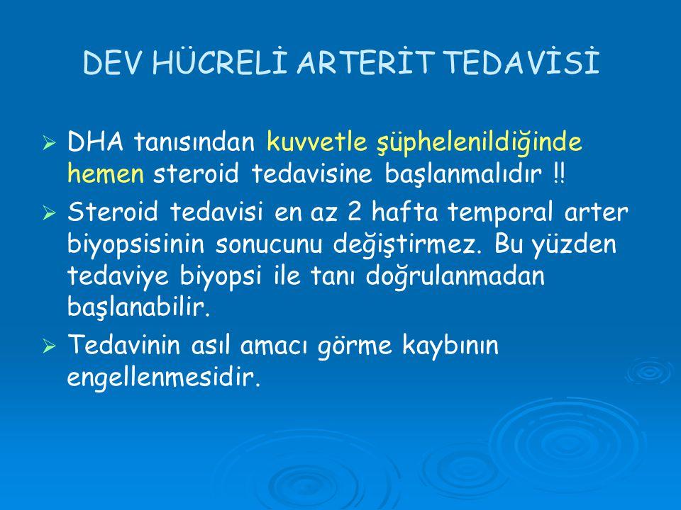 DEV HÜCRELİ ARTERİT TEDAVİSİ
