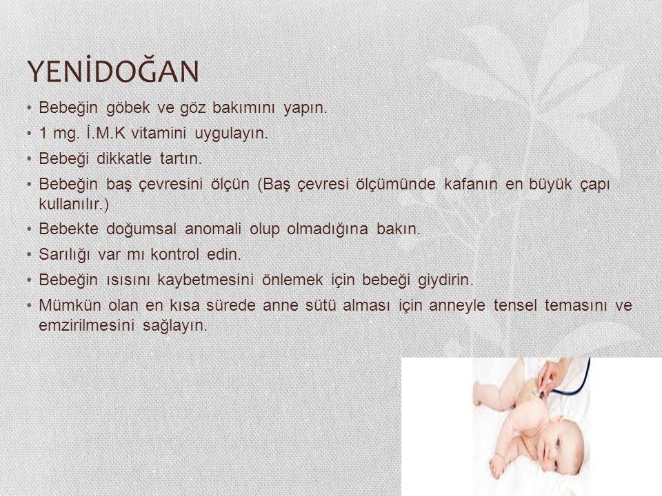 YENİDOĞAN Bebeğin göbek ve göz bakımını yapın.