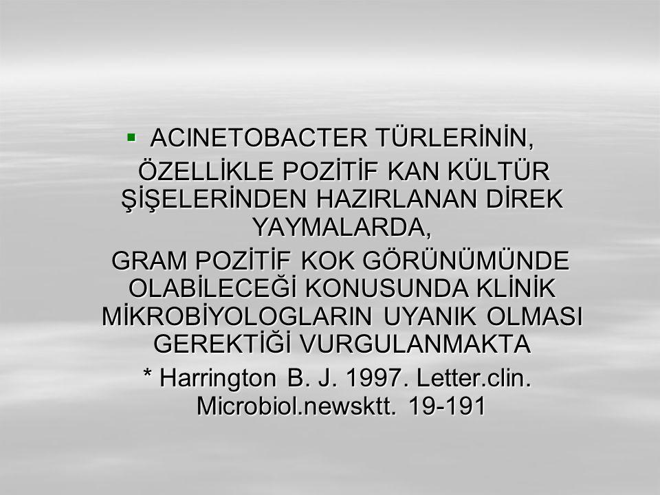 ACINETOBACTER TÜRLERİNİN,