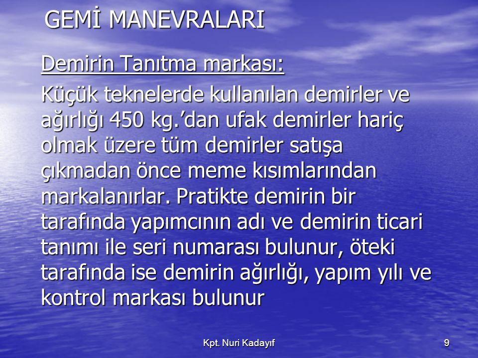 GEMİ MANEVRALARI Demirin Tanıtma markası: