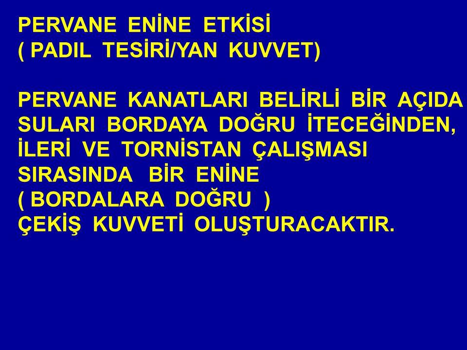 PERVANE ENİNE ETKİSİ ( PADIL TESİRİ/YAN KUVVET)