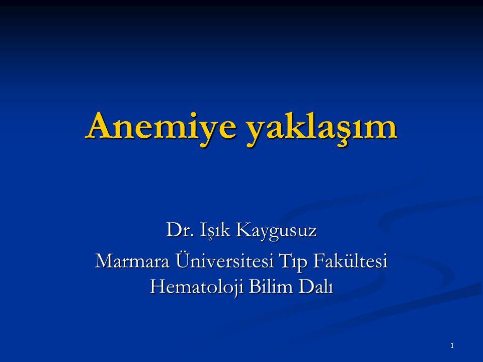 Marmara Üniversitesi Tıp Fakültesi Hematoloji Bilim Dalı