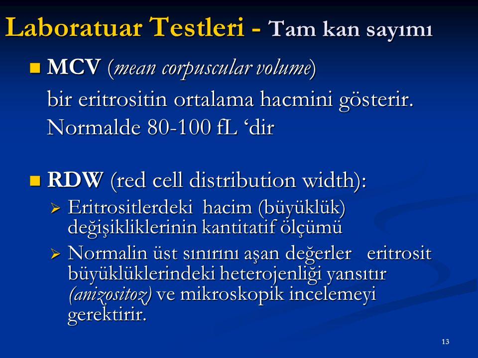 Laboratuar Testleri - Tam kan sayımı