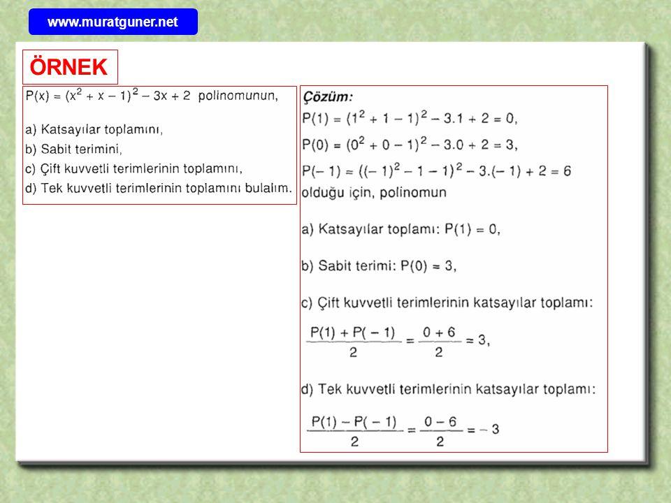 www.muratguner.net ÖRNEK 31