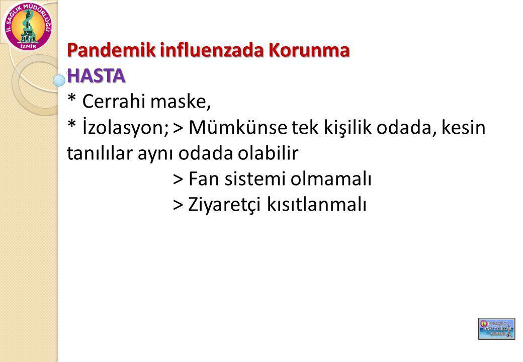 Pandemik influenzada Korunma