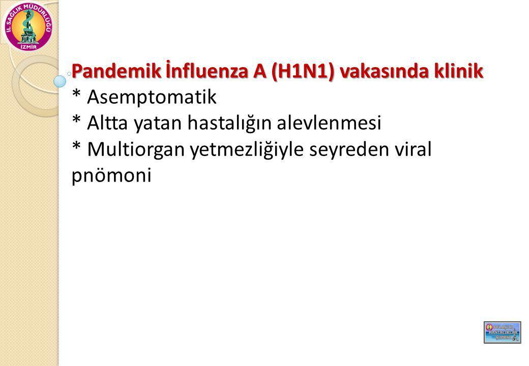 Pandemik İnfluenza A (H1N1) vakasında klinik