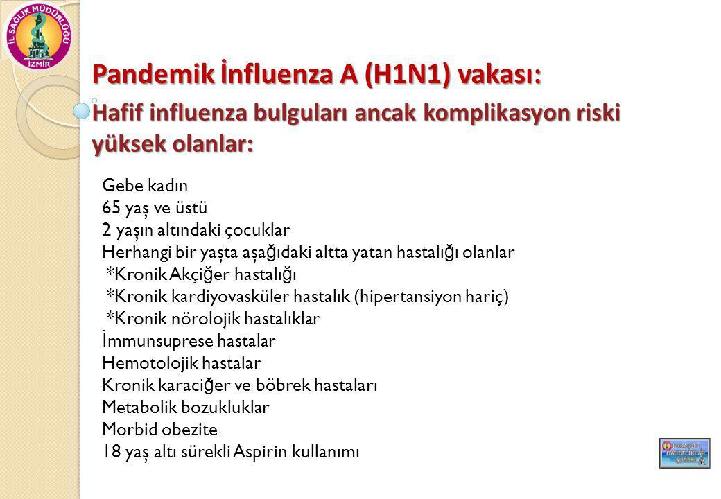 Pandemik İnfluenza A (H1N1) vakası: