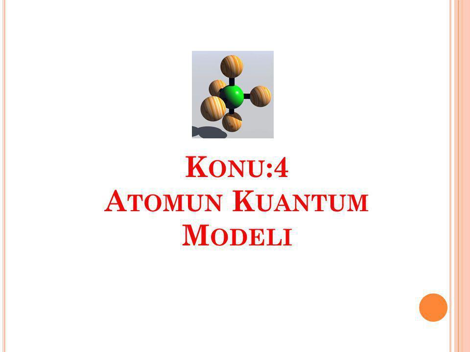 Konu:4 Atomun Kuantum Modeli