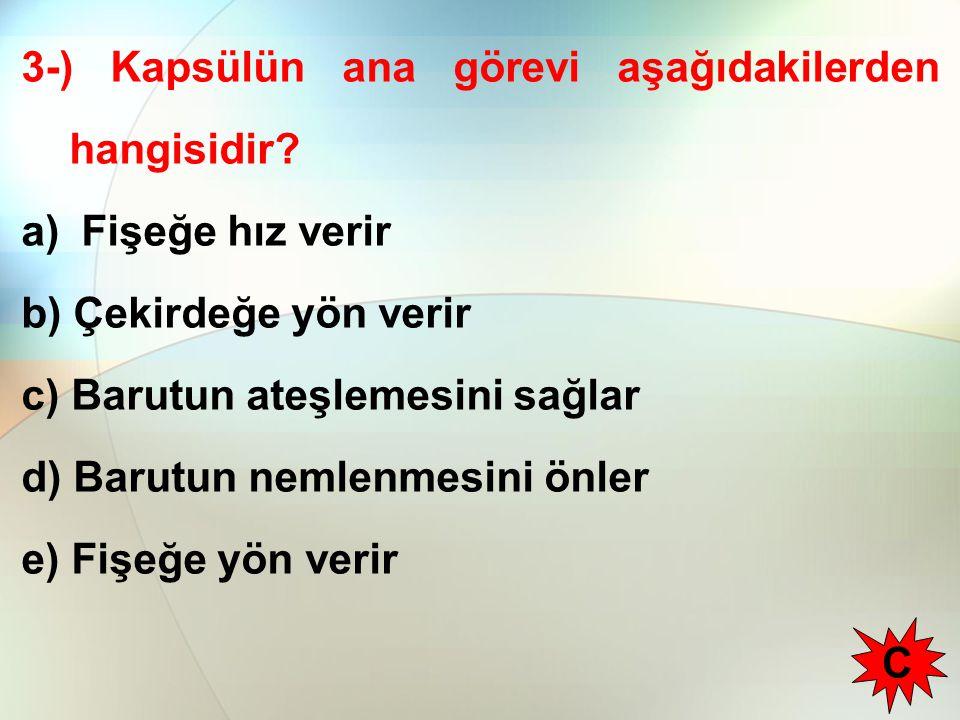 3-) Kapsülün ana görevi aşağıdakilerden hangisidir