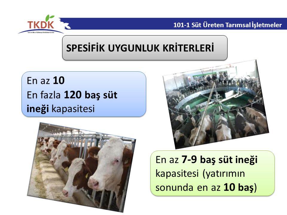 101-1 Süt Üreten Tarımsal İşletmeler