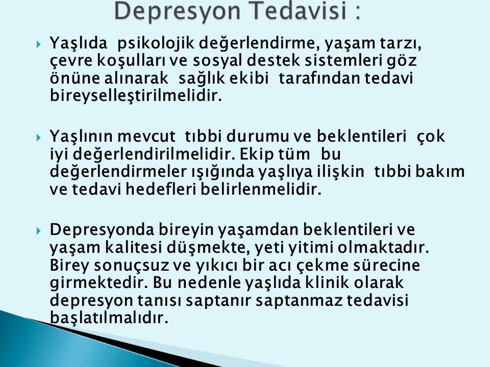 Depresyon Tedavisi :