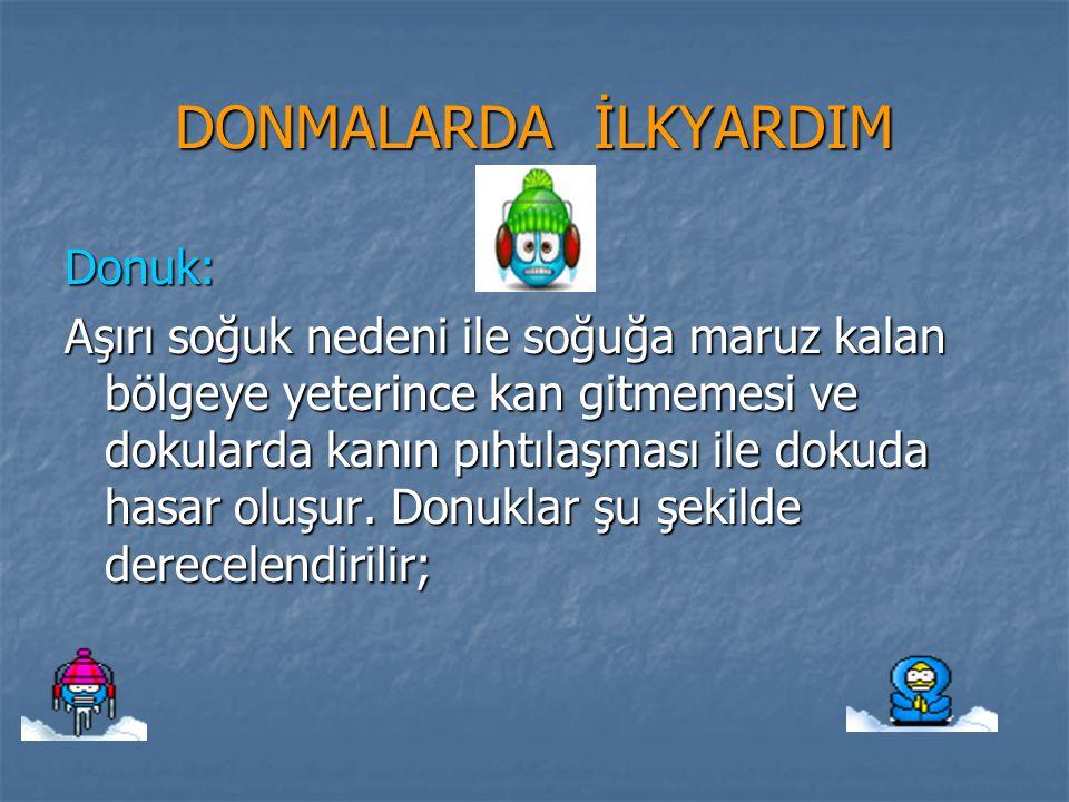 DONMALARDA İLKYARDIM Donuk: