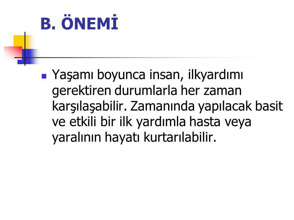 B. ÖNEMİ