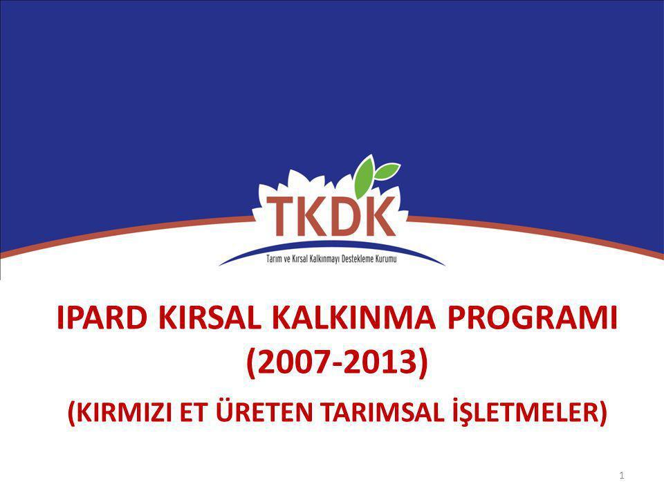 IPARD KIRSAL KALKINMA PROGRAMI (2007-2013)