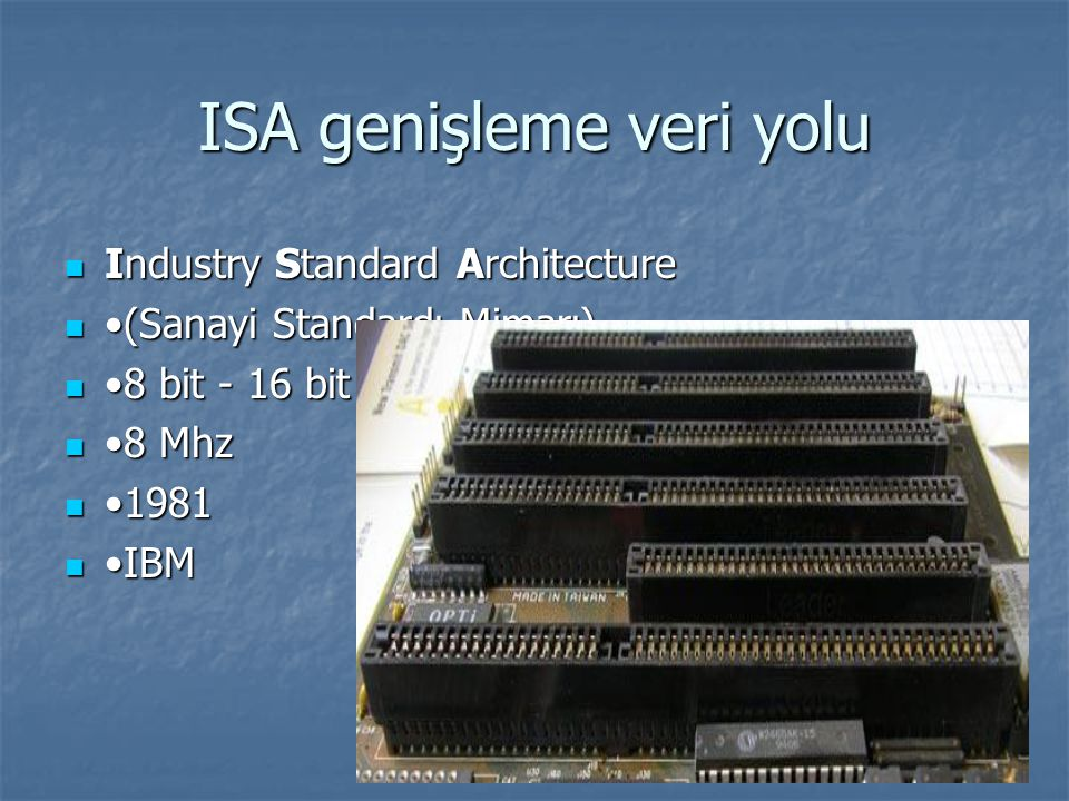 ISA genişleme veri yolu