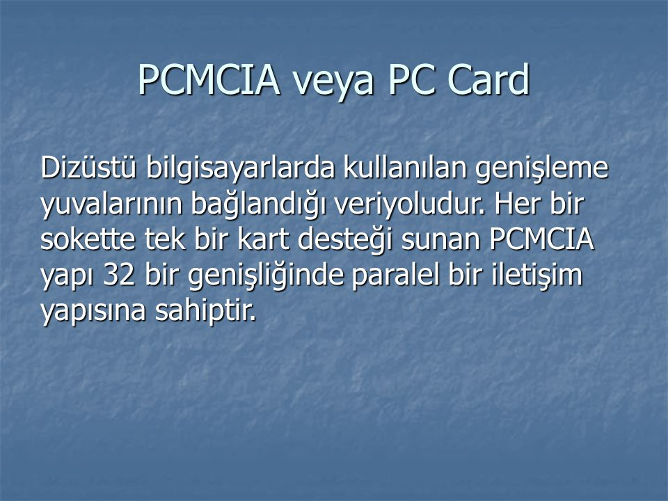 PCMCIA veya PC Card