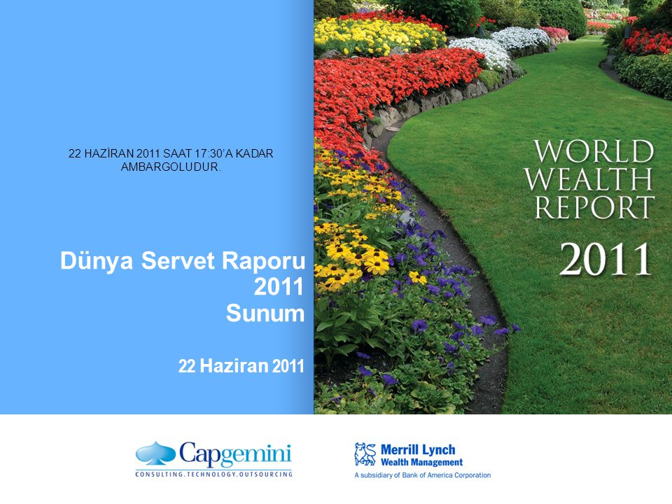 Dünya Servet Raporu 2011 Sunum