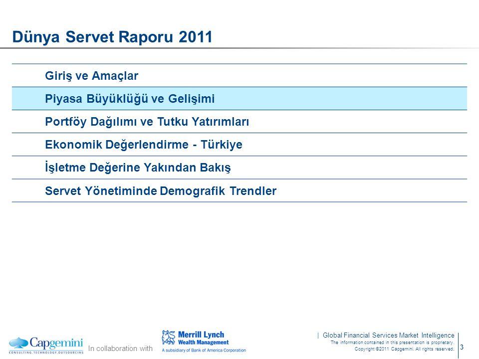 Dünya Servet Raporu 2011 Giriş ve Amaçlar Piyasa Büyüklüğü ve Gelişimi