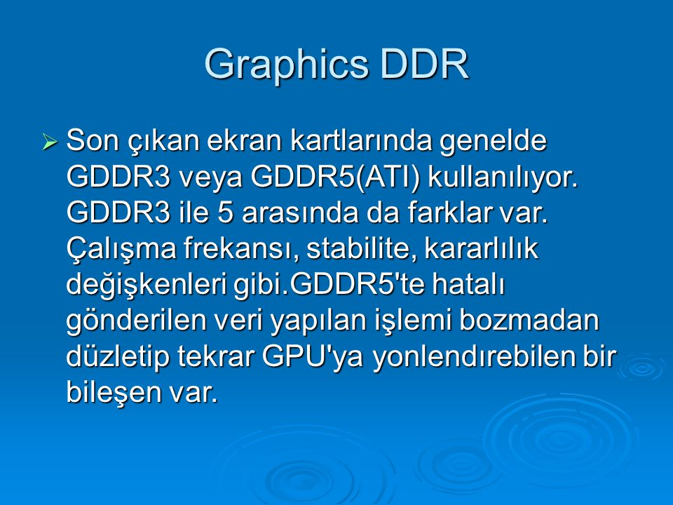 Graphics DDR