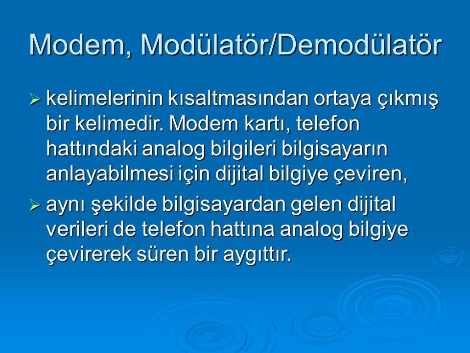 Modem, Modülatör/Demodülatör