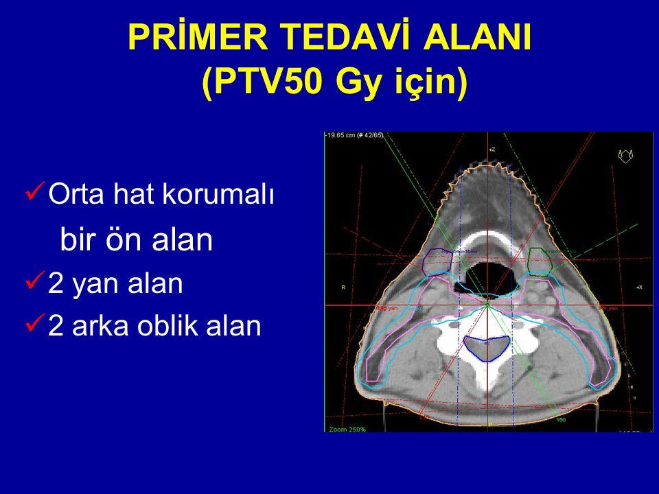 PRİMER TEDAVİ ALANI (PTV50 Gy için)