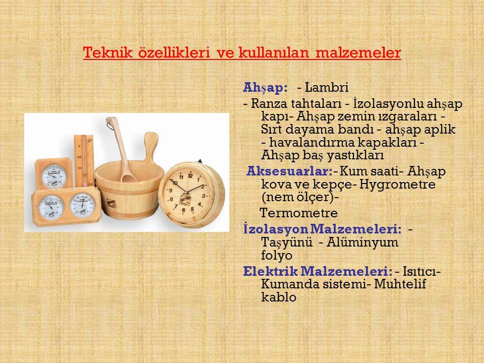 Teknik özellikleri ve kullanılan malzemeler