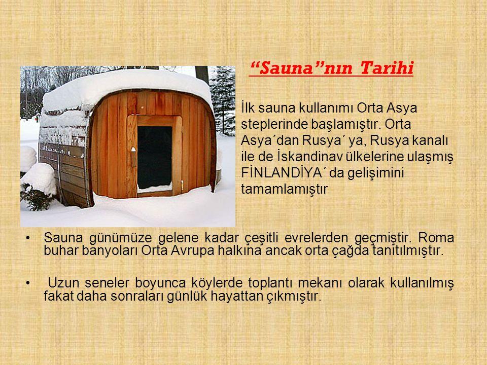 Sauna nın Tarihi İlk sauna kullanımı Orta Asya