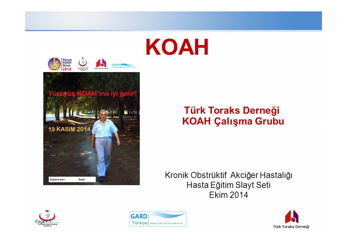 Kronik Obstrüktif Akciğer Hastalığı Hasta Eğitim Slayt Seti
