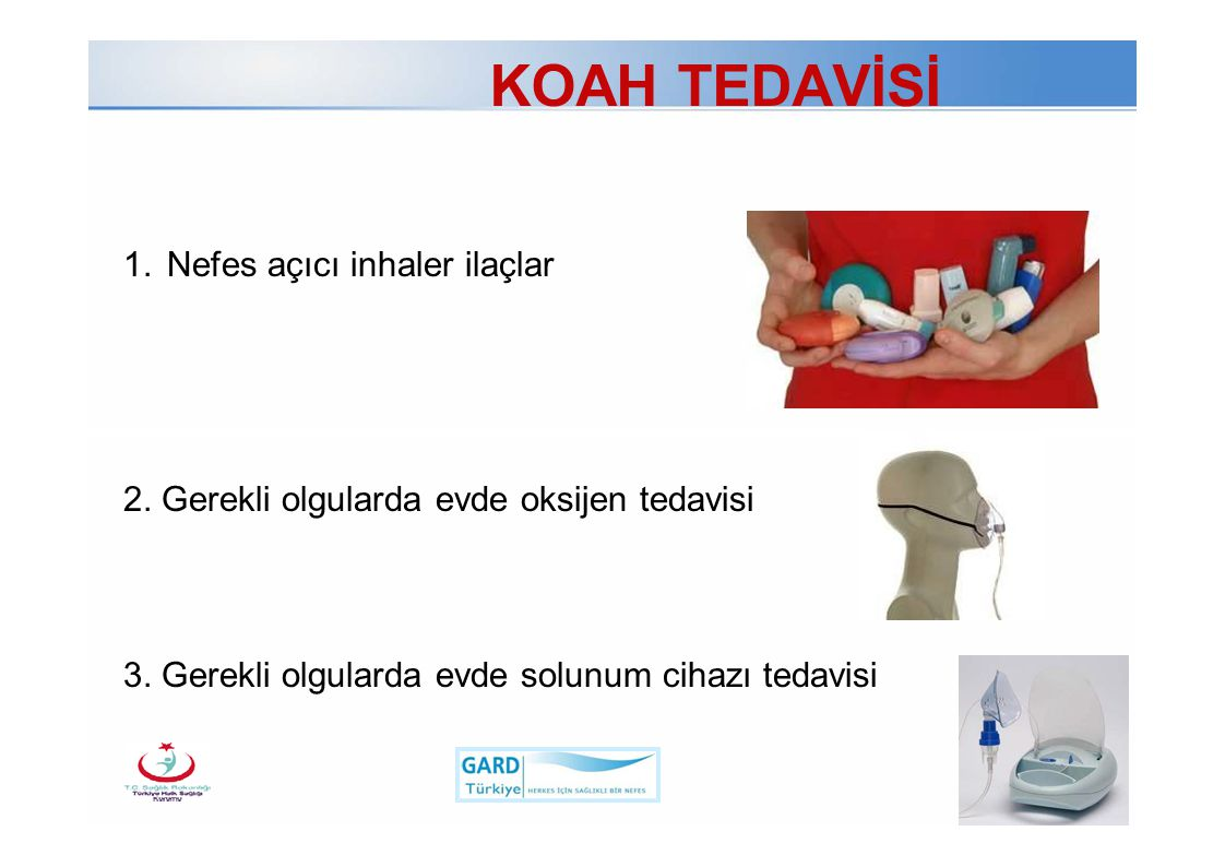 KOAH TEDAVİSİ 1. Nefes açıcı inhaler ilaçlar