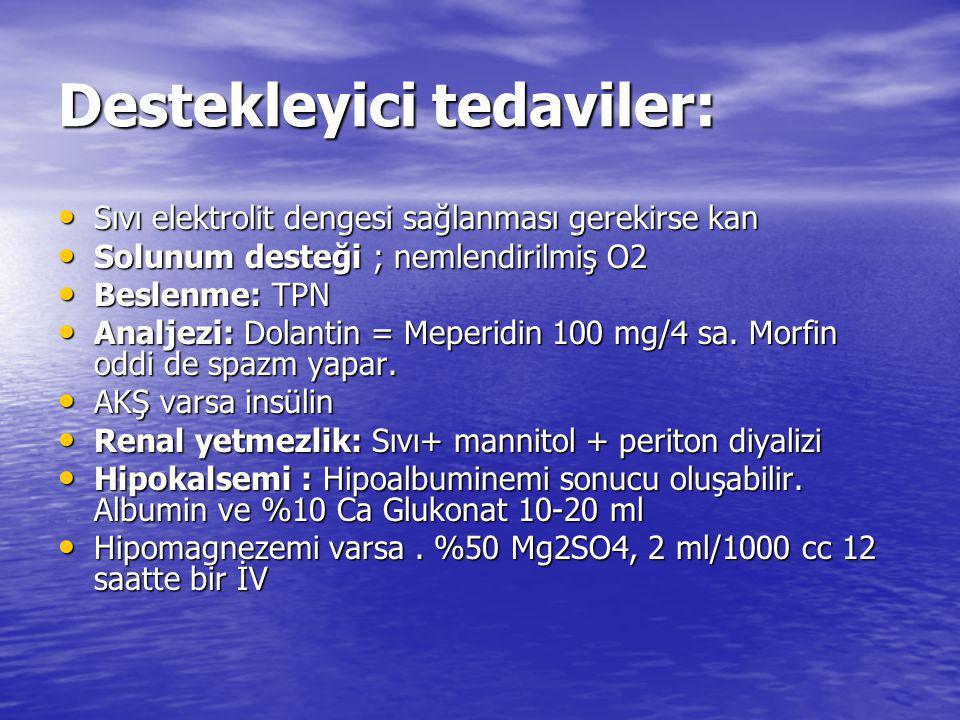 Destekleyici tedaviler: