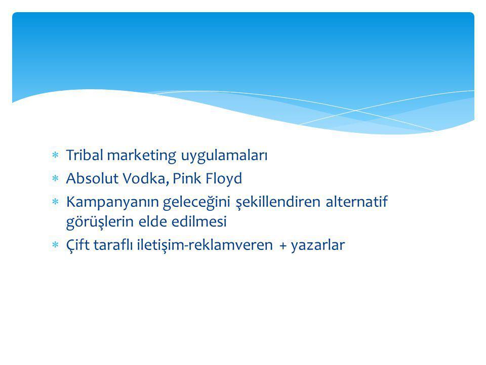 Tribal marketing uygulamaları