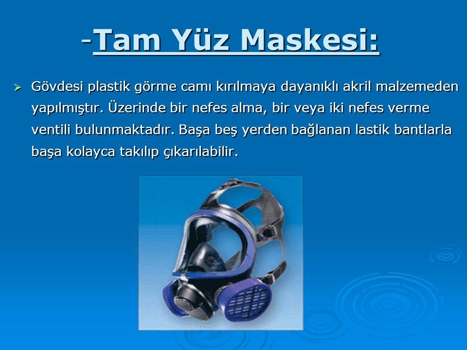 -Tam Yüz Maskesi: