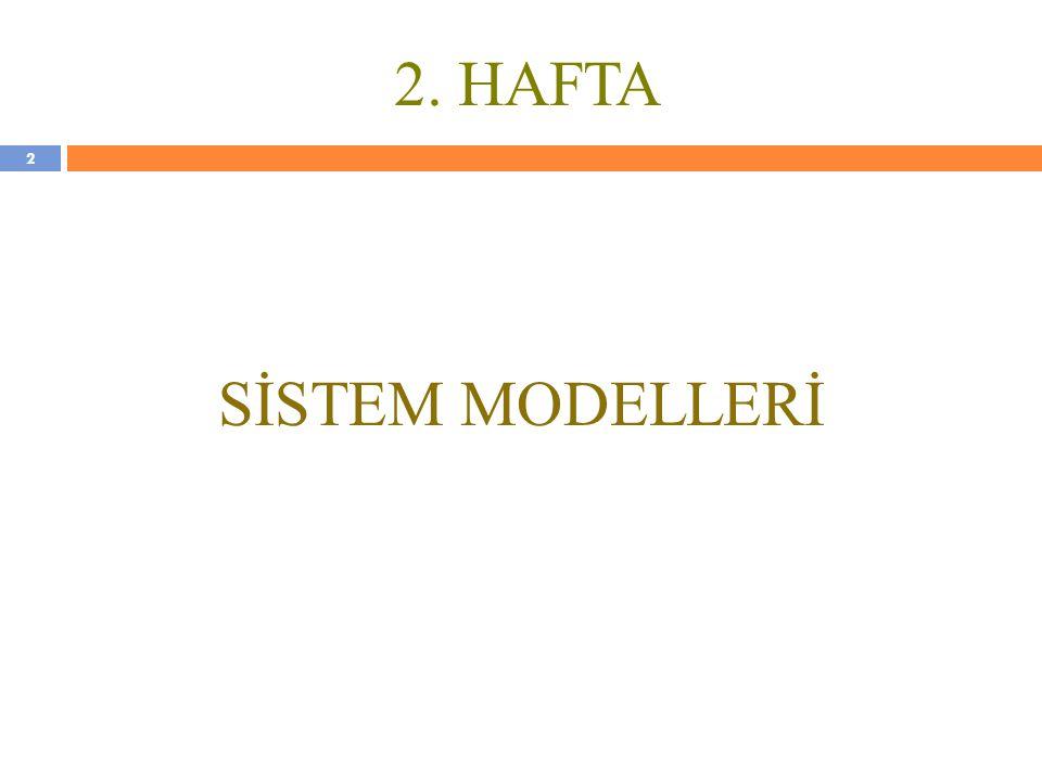 2. HAFTA SİSTEM MODELLERİ