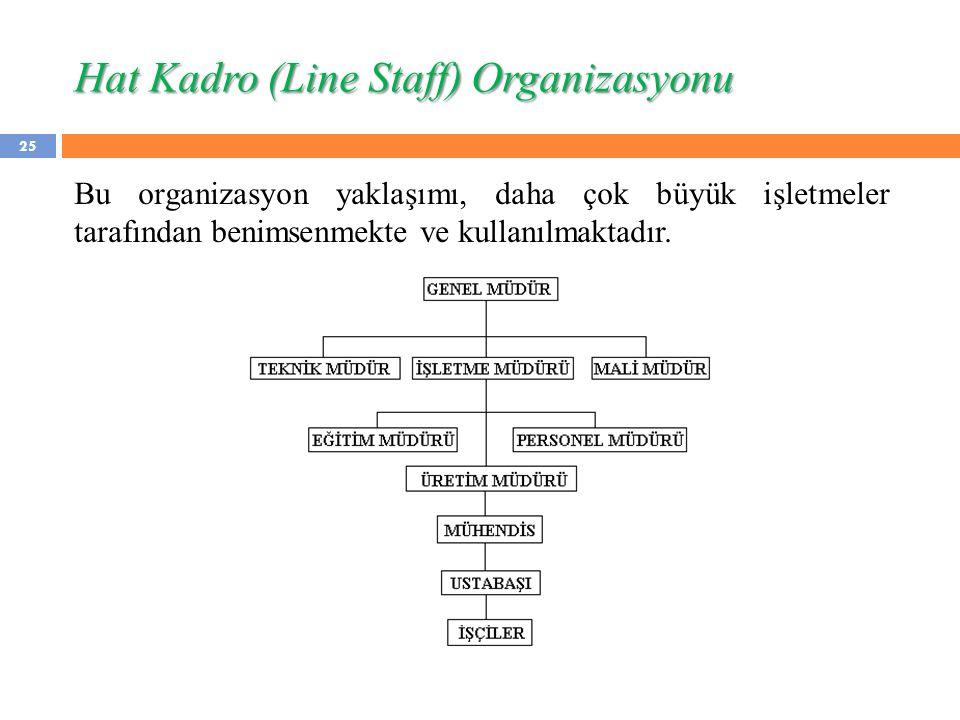 Hat Kadro (Line Staff) Organizasyonu