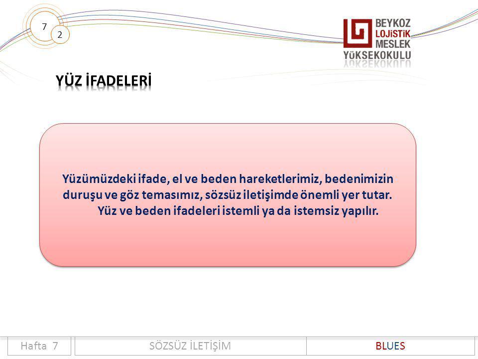 YÜZ İFADELERİ Hafta no Bölüm no