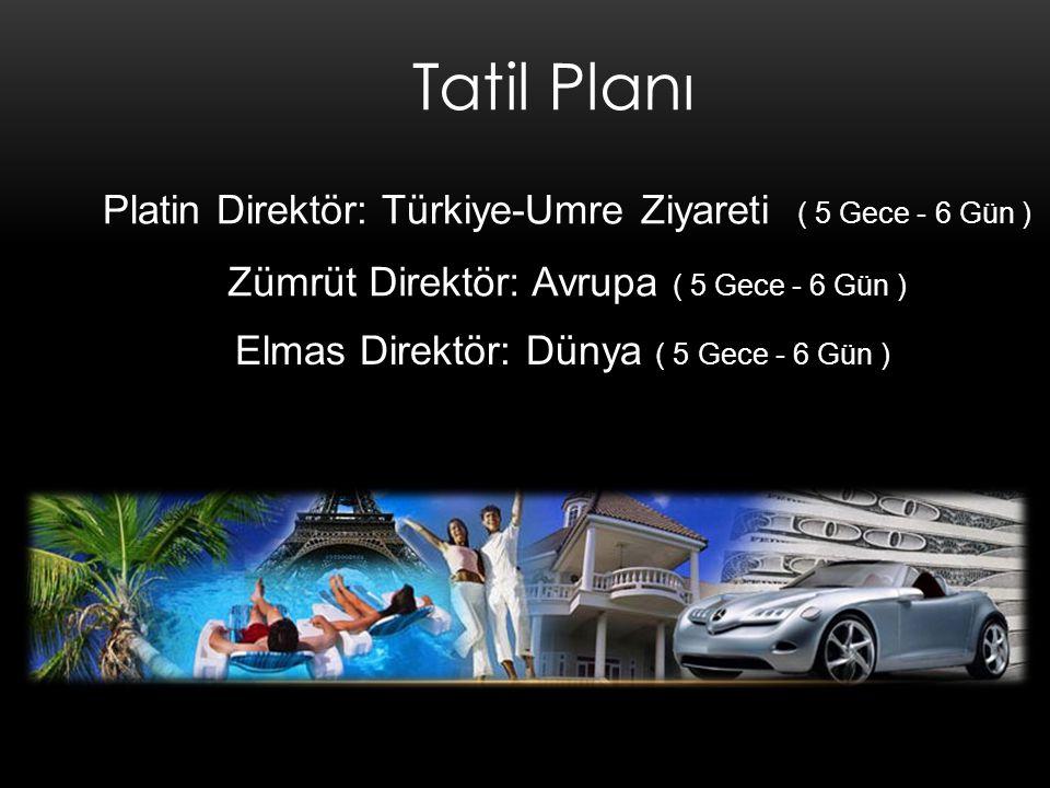 Tatil Planı Platin Direktör: Türkiye-Umre Ziyareti ( 5 Gece - 6 Gün )