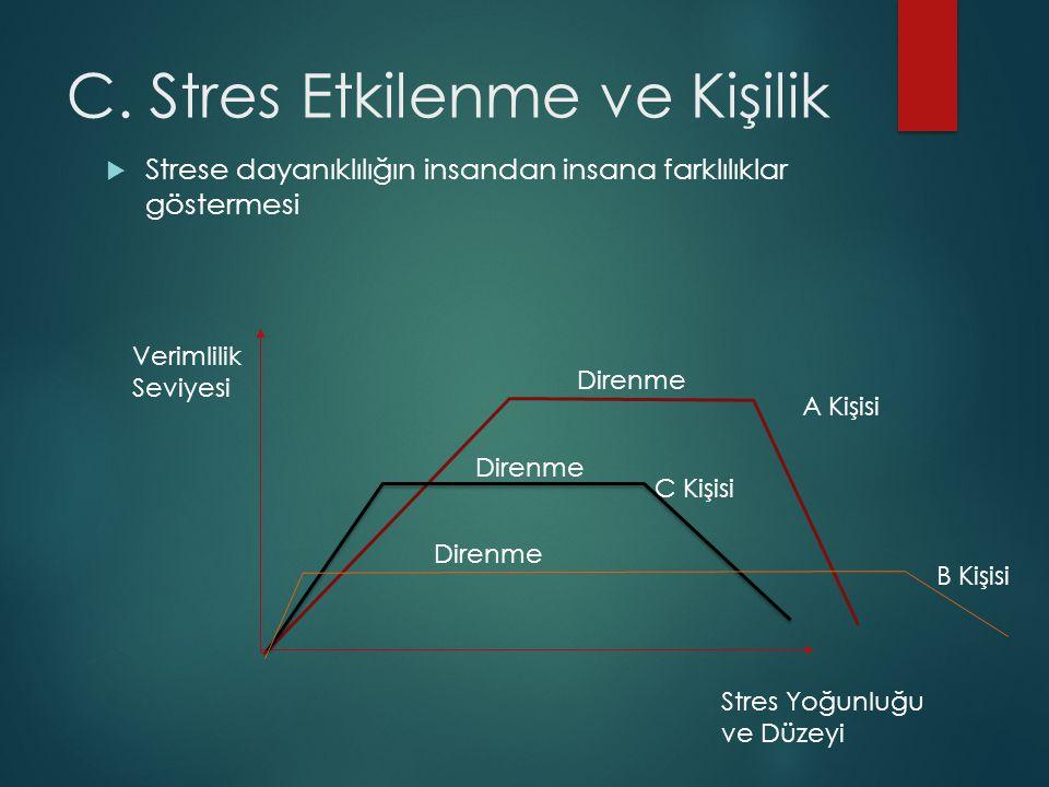 C. Stres Etkilenme ve Kişilik