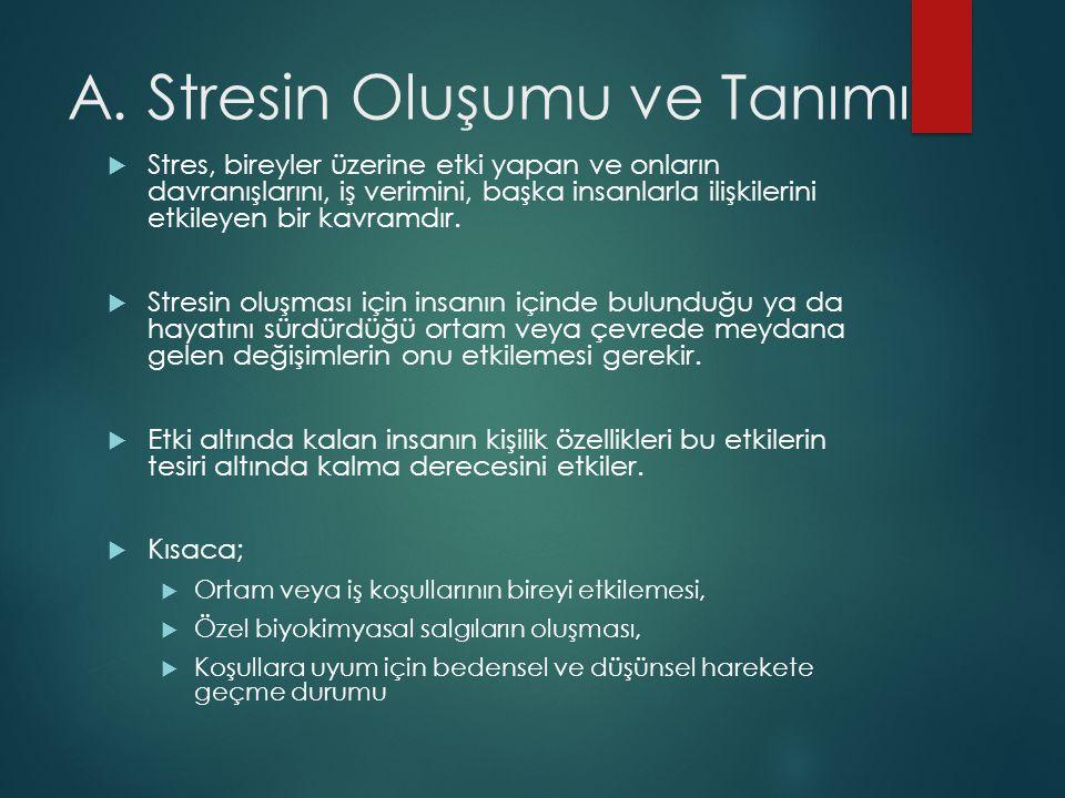 A. Stresin Oluşumu ve Tanımı