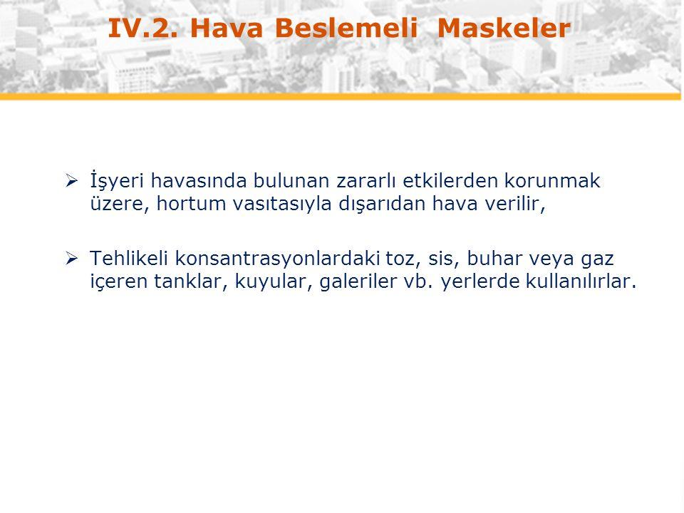 IV.2. Hava Beslemeli Maskeler