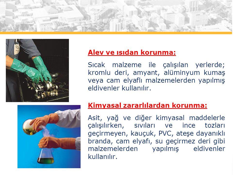 Alev ve ısıdan korunma: