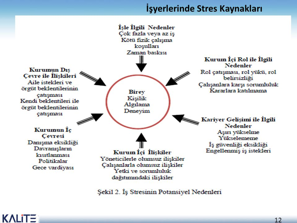 İşyerlerinde Stres Kaynakları